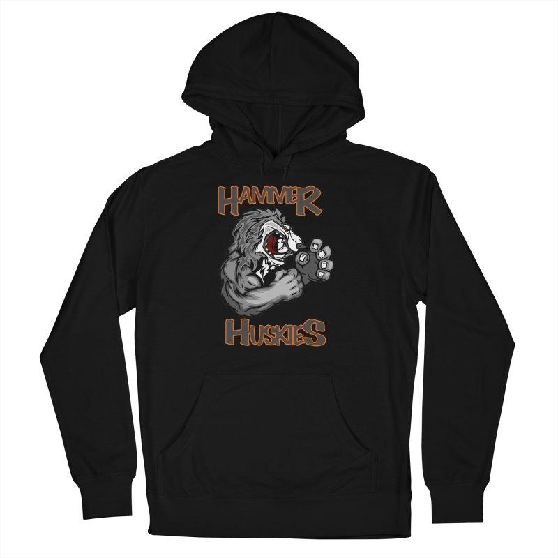 Cartoon Huskie Hands Men's French Terry Pullover Hoody by Hammer Huskies's Artist Shop