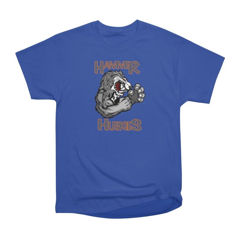 Cartoon Huskie Hands Men's Heavyweight T-Shirt by Hammer Huskies's Artist Shop