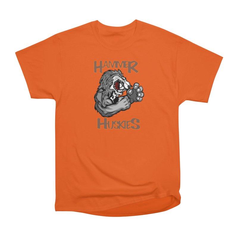Cartoon Huskie Hands Women's Heavyweight Unisex T-Shirt by Hammer Huskies's Artist Shop