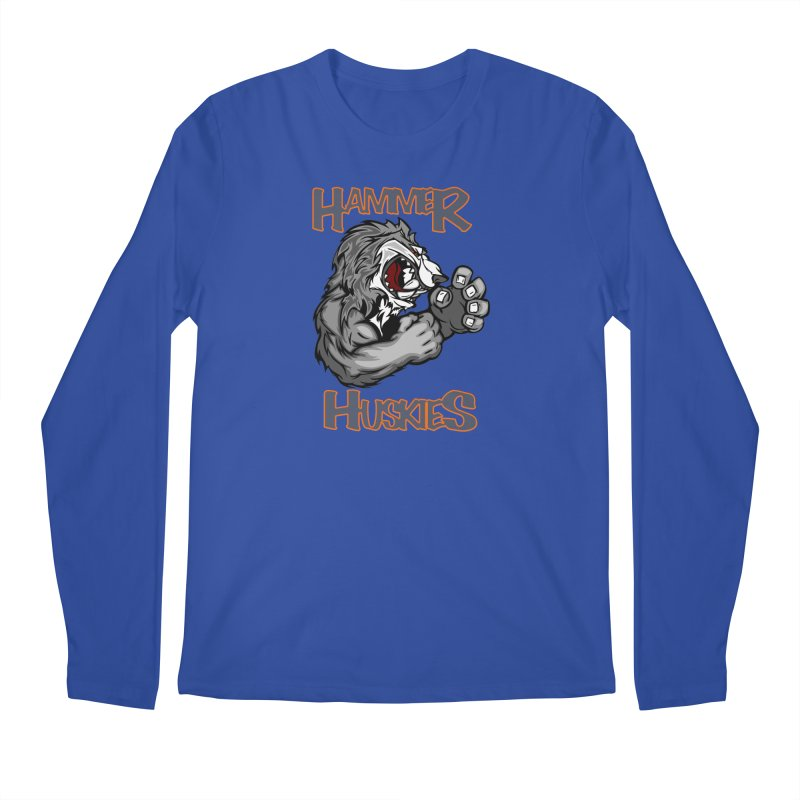 Cartoon Huskie Hands Men's Regular Longsleeve T-Shirt by Hammer Huskies's Artist Shop