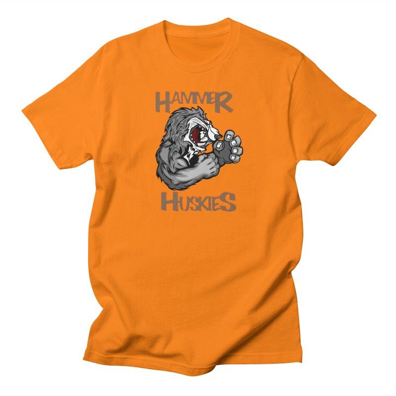 Cartoon Huskie Hands Men's T-Shirt by Hammer Huskies's Artist Shop