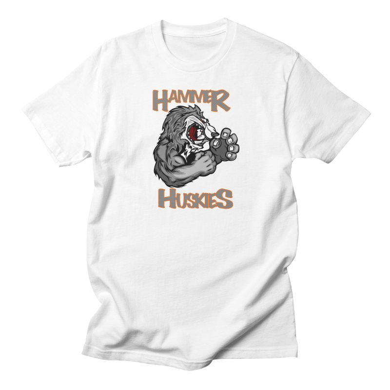Cartoon Huskie Hands Men's Regular T-Shirt by Hammer Huskies's Artist Shop