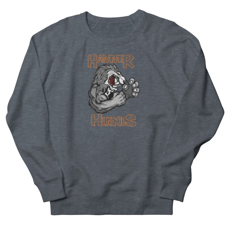 Cartoon Huskie Hands Men's French Terry Sweatshirt by Hammer Huskies's Artist Shop