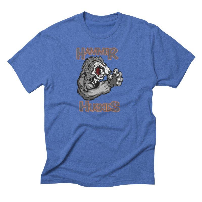 Cartoon Huskie Hands Men's Triblend T-Shirt by Hammer Huskies's Artist Shop