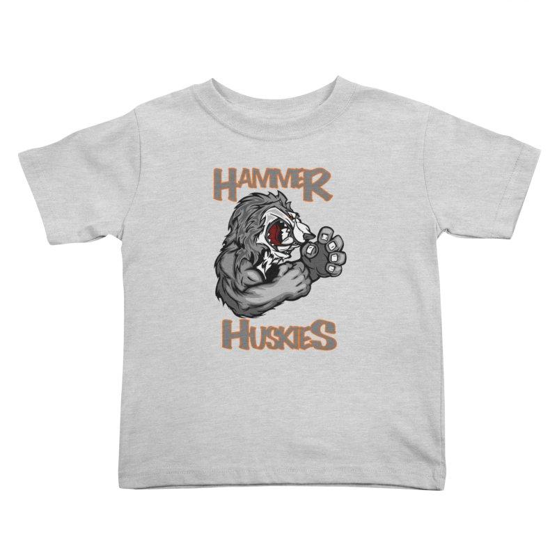 Cartoon Huskie Hands Kids Toddler T-Shirt by Hammer Huskies's Artist Shop