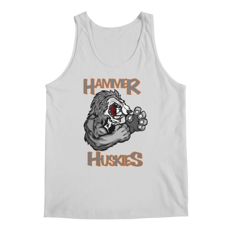 Cartoon Huskie Hands Men's Tank by Hammer Huskies's Artist Shop
