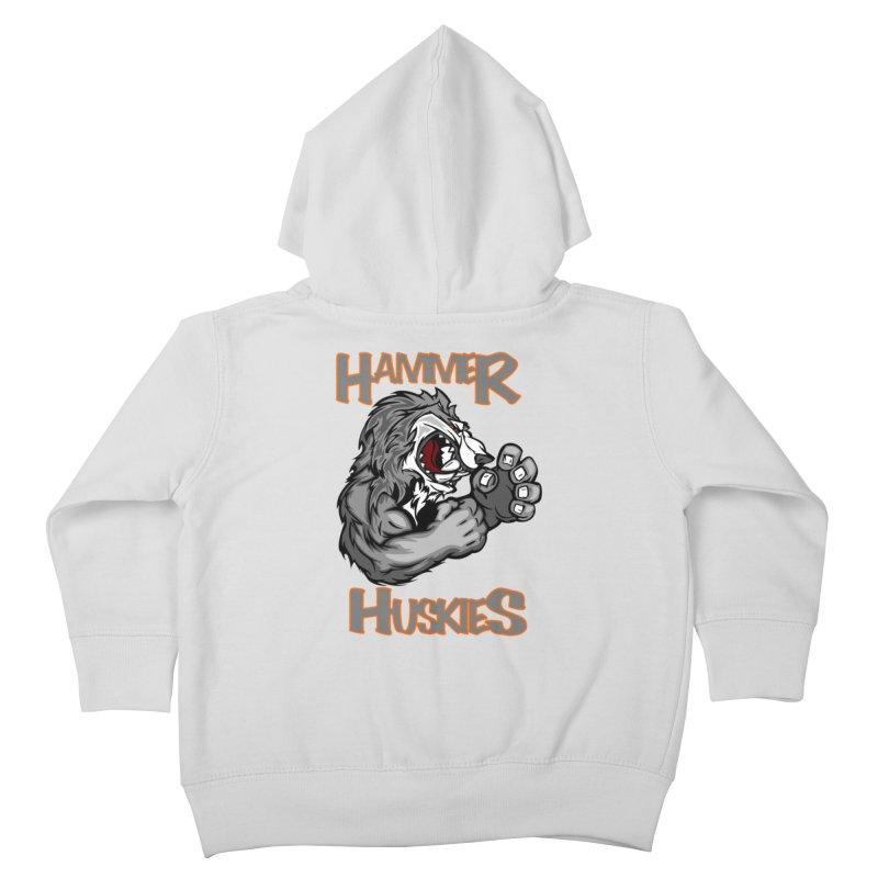 Cartoon Huskie Hands Kids Toddler Zip-Up Hoody by Hammer Huskies's Artist Shop