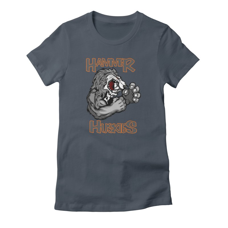 Cartoon Huskie Hands Women's T-Shirt by Hammer Huskies's Artist Shop