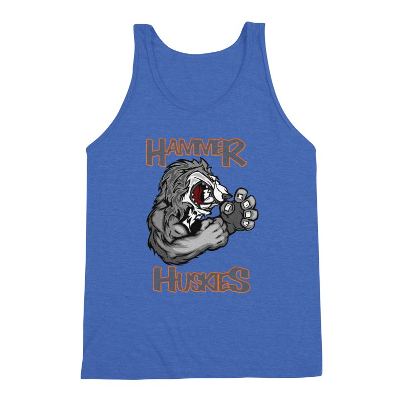 Cartoon Huskie Hands Men's Triblend Tank by Hammer Huskies's Artist Shop