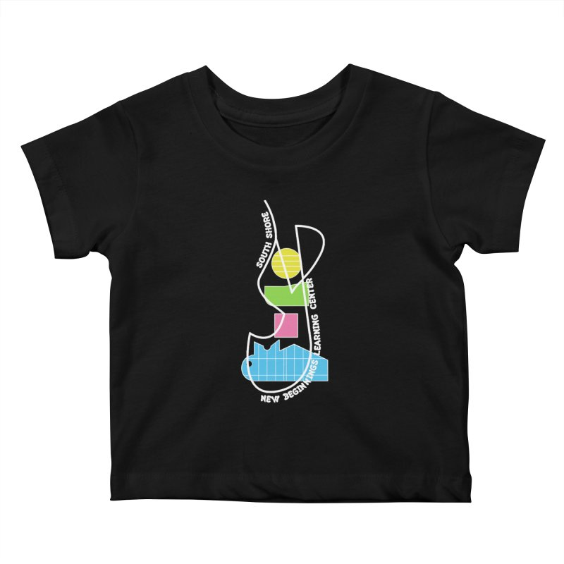 Path and Pieces Kids Baby T-Shirt by Hammersley Architecture T-Shirt Studio