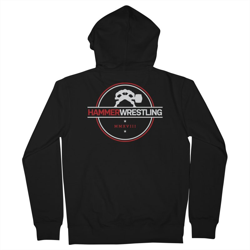 HAMMER MMXVII Men's French Terry Zip-Up Hoody by Hammer Wrestling's Apparel Shop