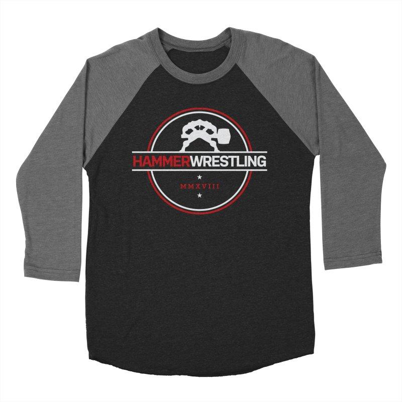 HAMMER MMXVII Women's Baseball Triblend Longsleeve T-Shirt by Hammer Wrestling's Apparel Shop