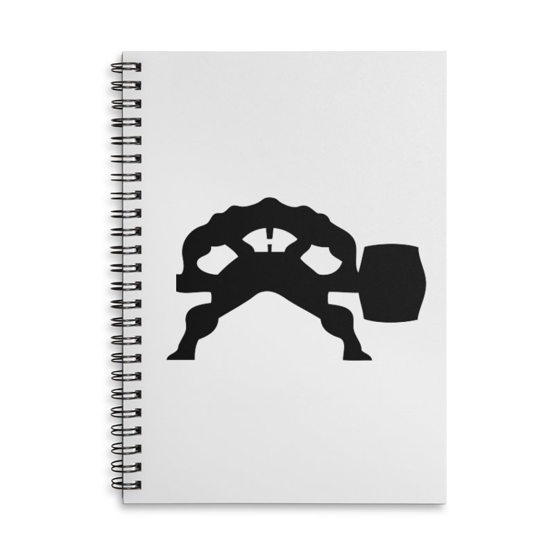 BLACK HAMMER Accessories Lined Spiral Notebook by Hammer Apparel Shop