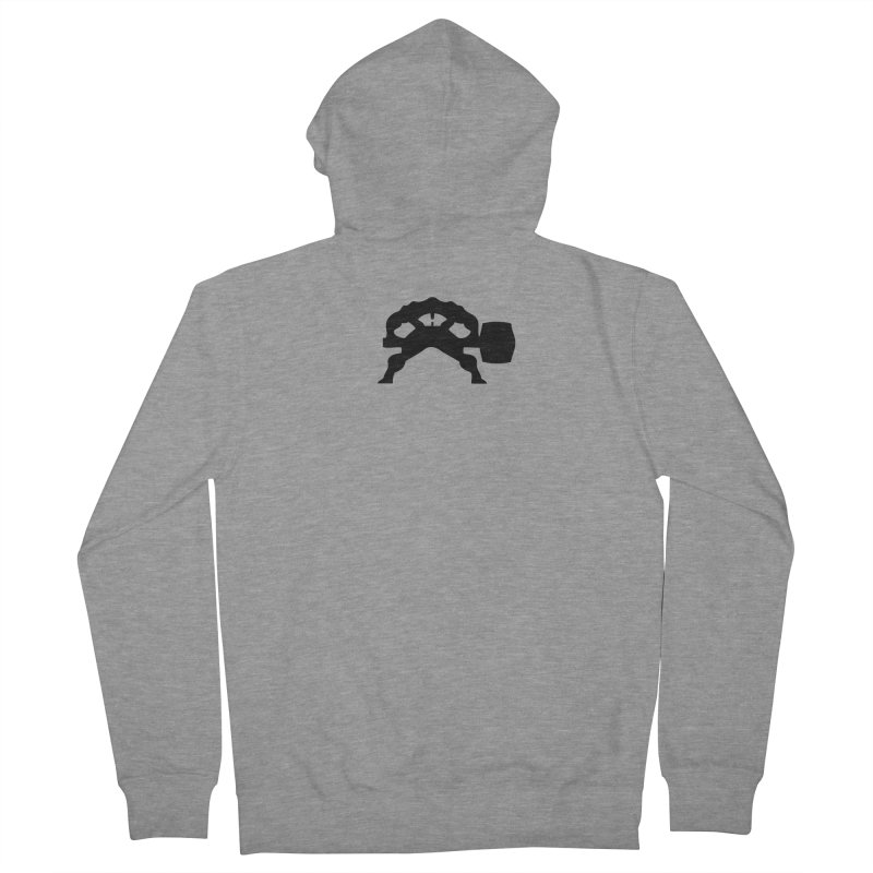 BLACK HAMMER Women's French Terry Zip-Up Hoody by Hammer Wrestling's Apparel Shop