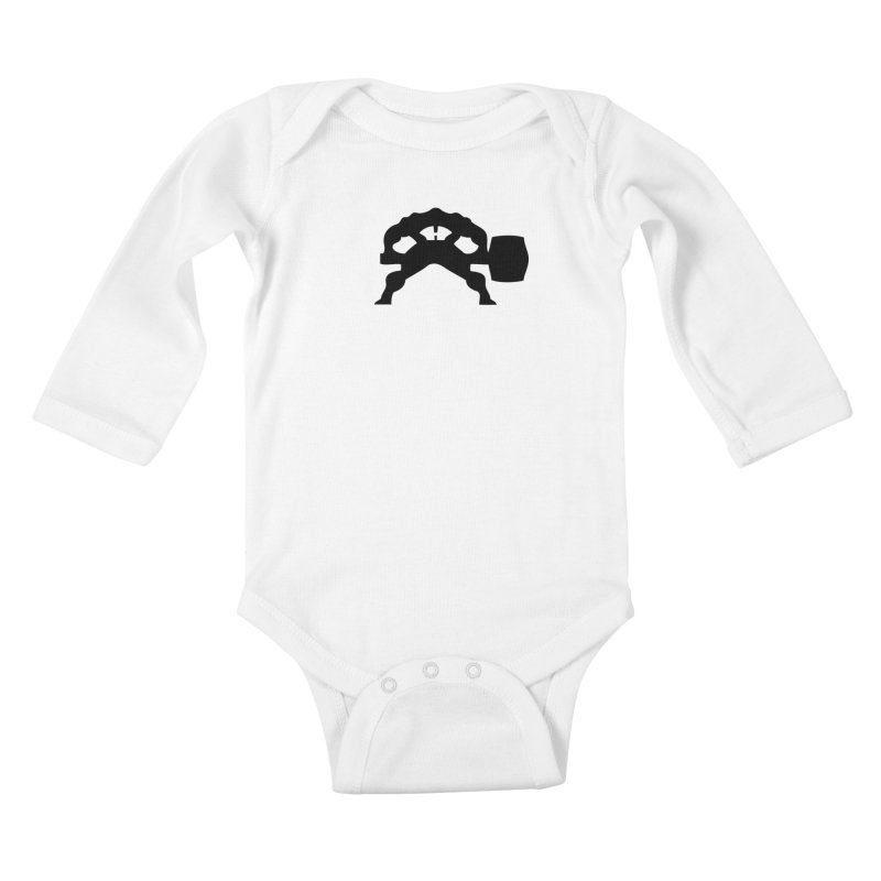 BLACK HAMMER Kids Baby Longsleeve Bodysuit by Hammer Apparel Shop