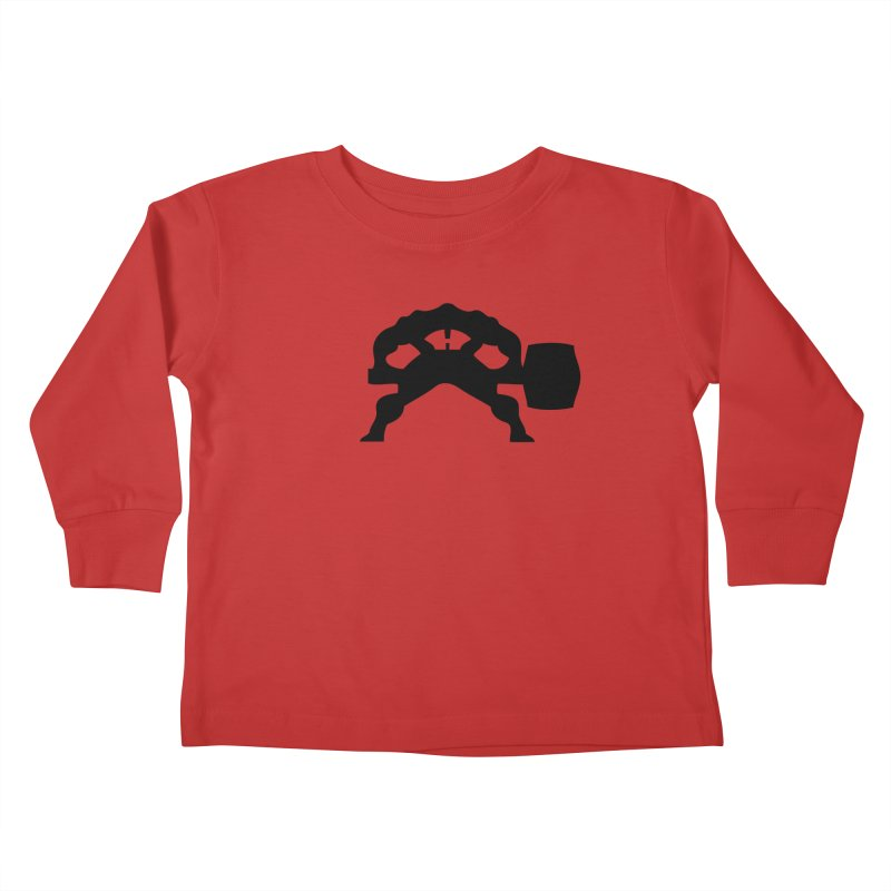 BLACK HAMMER Kids Toddler Longsleeve T-Shirt by Hammer Apparel Shop