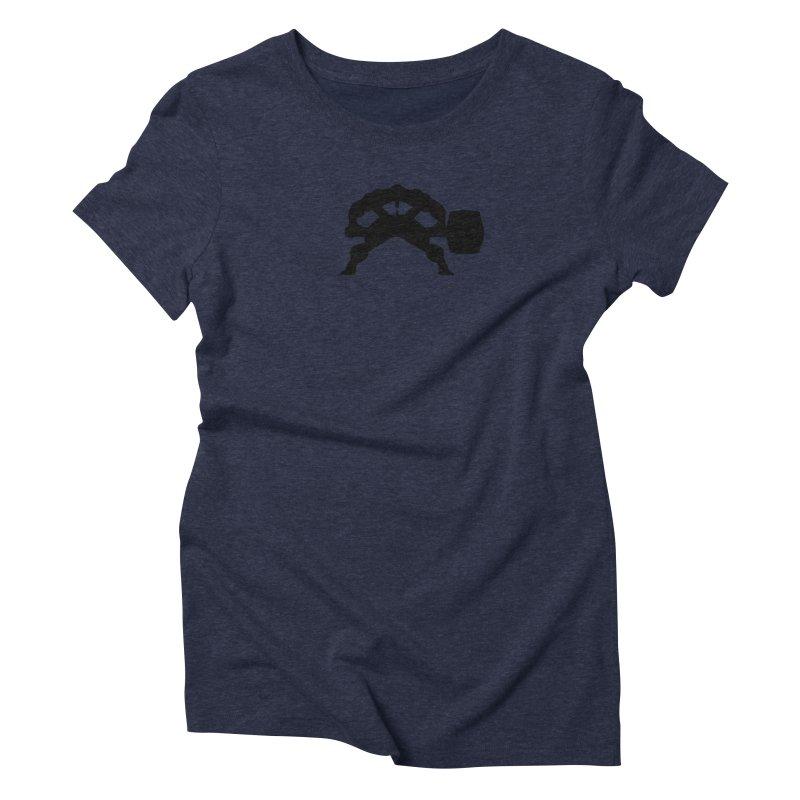 BLACK HAMMER Women's Triblend T-Shirt by Hammer Wrestling's Apparel Shop