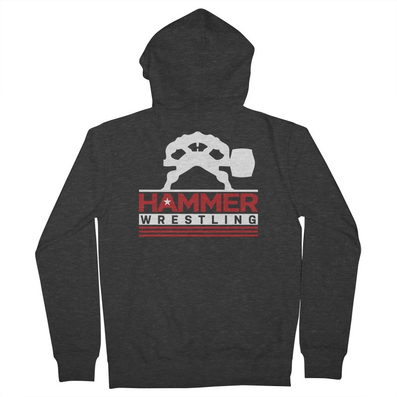 HAMMER USA Women's French Terry Zip-Up Hoody by Hammer Wrestling's Apparel Shop