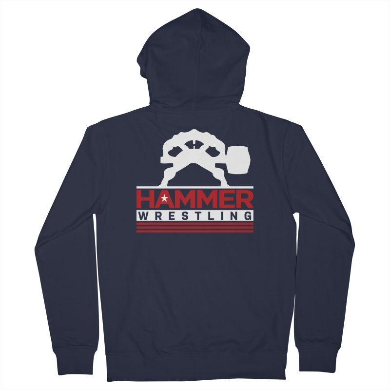 HAMMER USA Men's French Terry Zip-Up Hoody by Hammer Wrestling's Apparel Shop