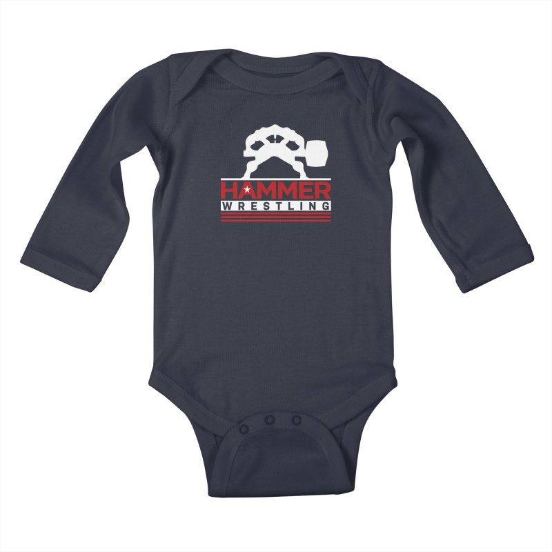 HAMMER USA Kids Baby Longsleeve Bodysuit by Hammer Wrestling's Apparel Shop