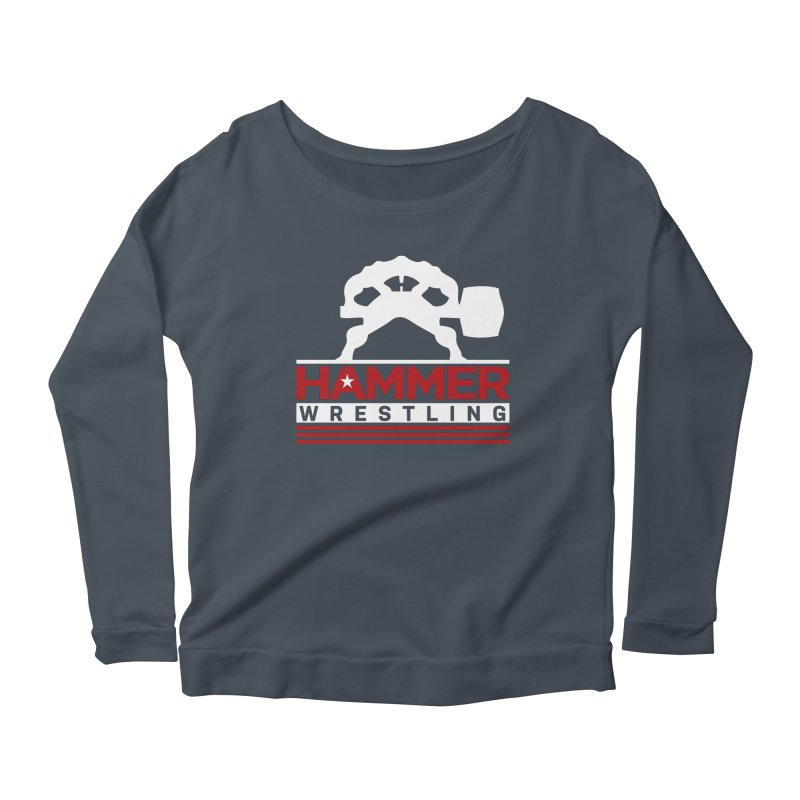 HAMMER USA Women's Scoop Neck Longsleeve T-Shirt by Hammer Apparel Shop