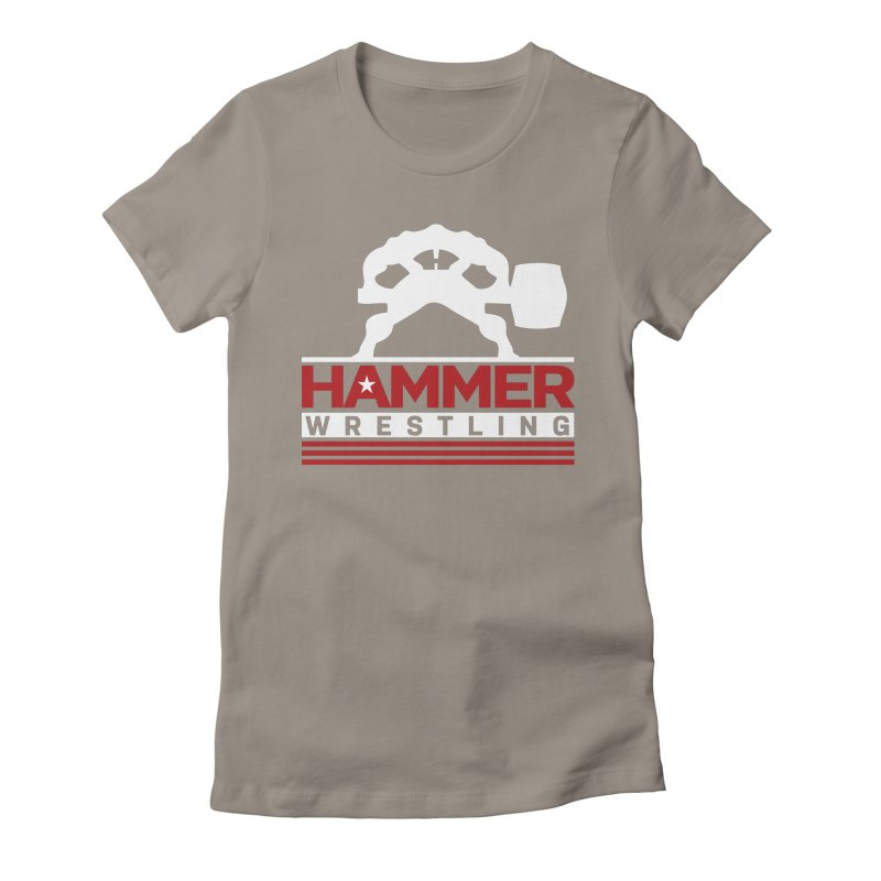 HAMMER USA Women's Fitted T-Shirt by Hammer Wrestling's Apparel Shop