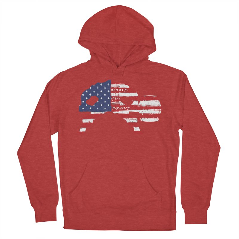 BE BRAVE - 4TH OF JULY EDITION Women's Pullover Hoody by Hammer Wrestling's Apparel Shop