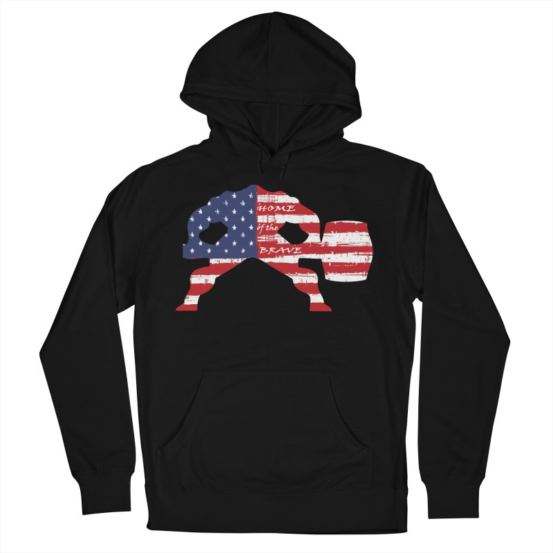 BE BRAVE - 4TH OF JULY EDITION Men's Pullover Hoody by Hammer Wrestling's Apparel Shop