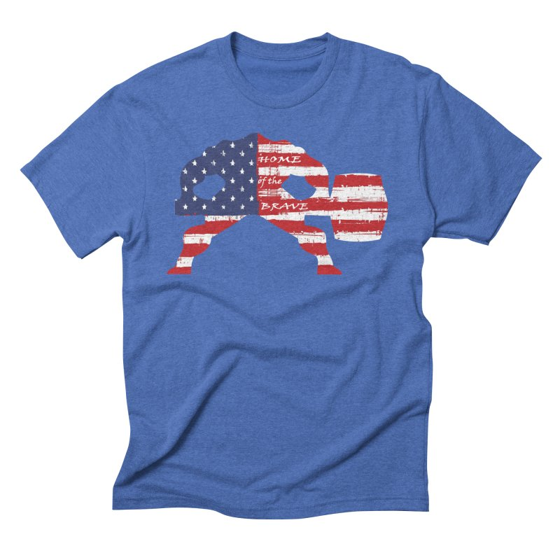 BE BRAVE - 4TH OF JULY EDITION Men's Triblend T-Shirt by Hammer Wrestling's Apparel Shop