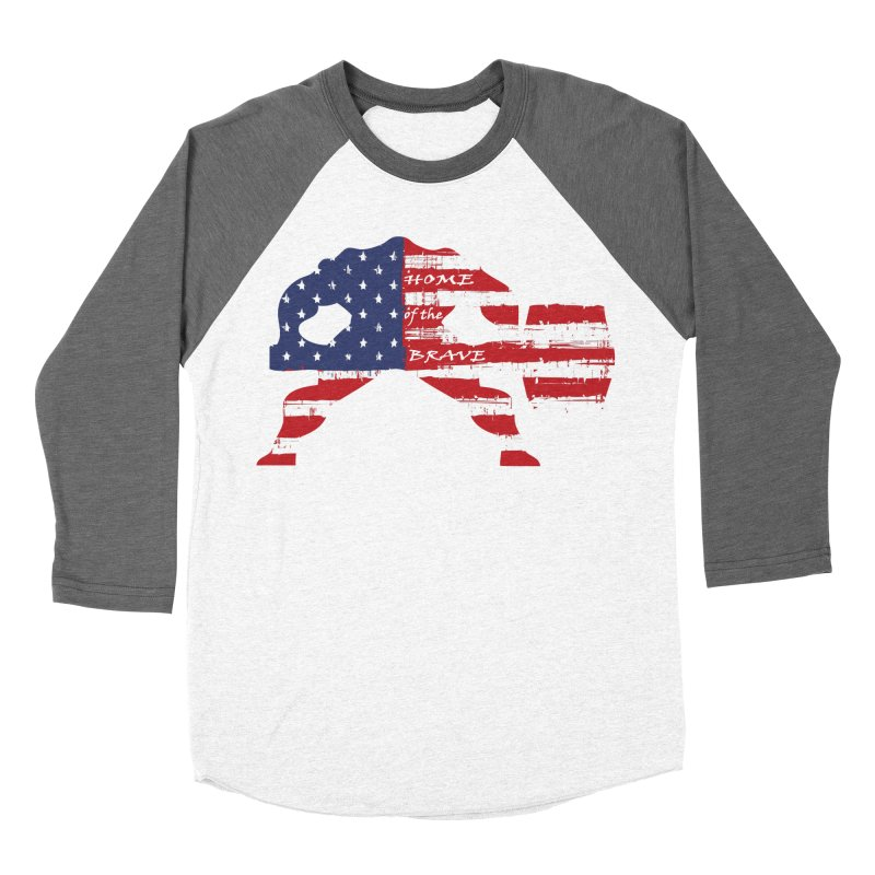 BE BRAVE - 4TH OF JULY EDITION Women's Baseball Triblend T-Shirt by Hammer Wrestling's Apparel Shop