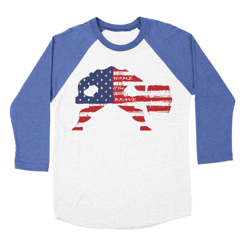 BE BRAVE - 4TH OF JULY EDITION Men's Baseball Triblend T-Shirt by Hammer Wrestling's Apparel Shop