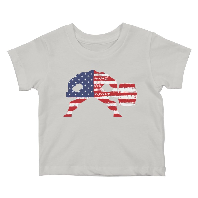 BE BRAVE - 4TH OF JULY EDITION Kids Baby T-Shirt by Hammer Wrestling's Apparel Shop