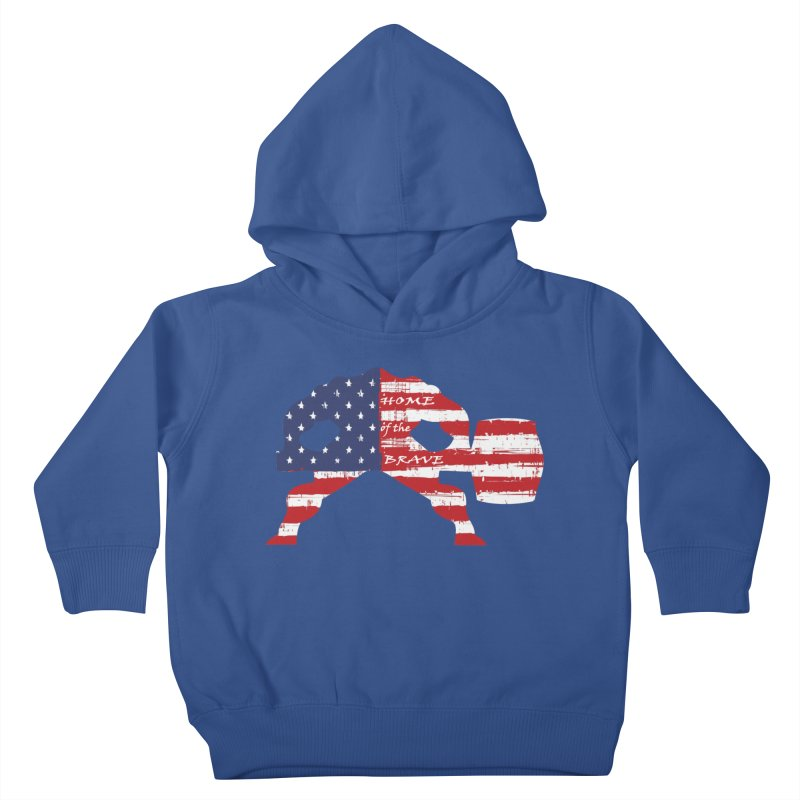 BE BRAVE - 4TH OF JULY EDITION Kids Toddler Pullover Hoody by Hammer Wrestling's Apparel Shop