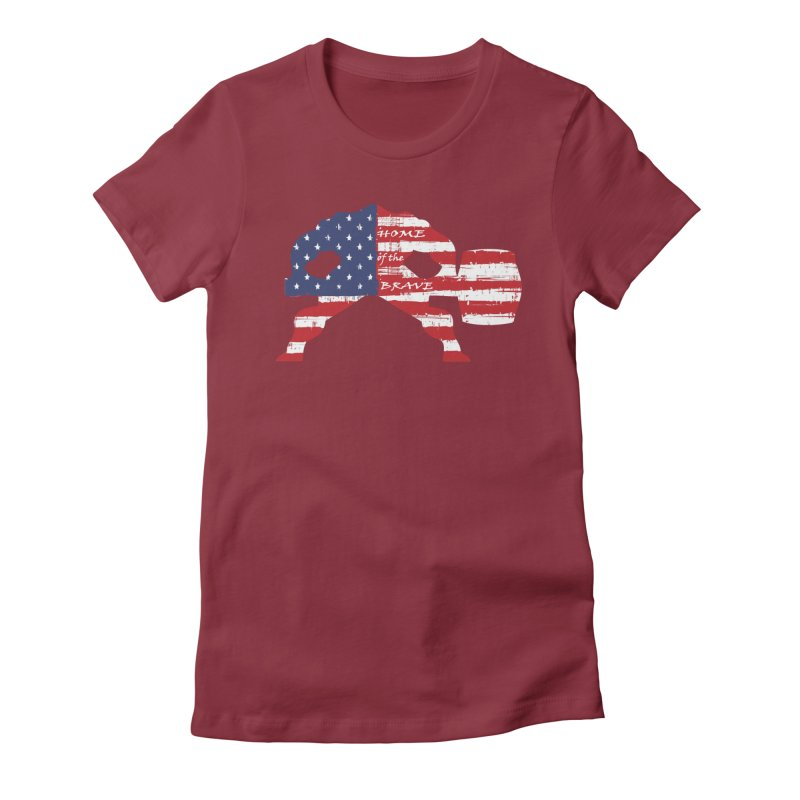 BE BRAVE - 4TH OF JULY EDITION Women's Fitted T-Shirt by Hammer Wrestling's Apparel Shop