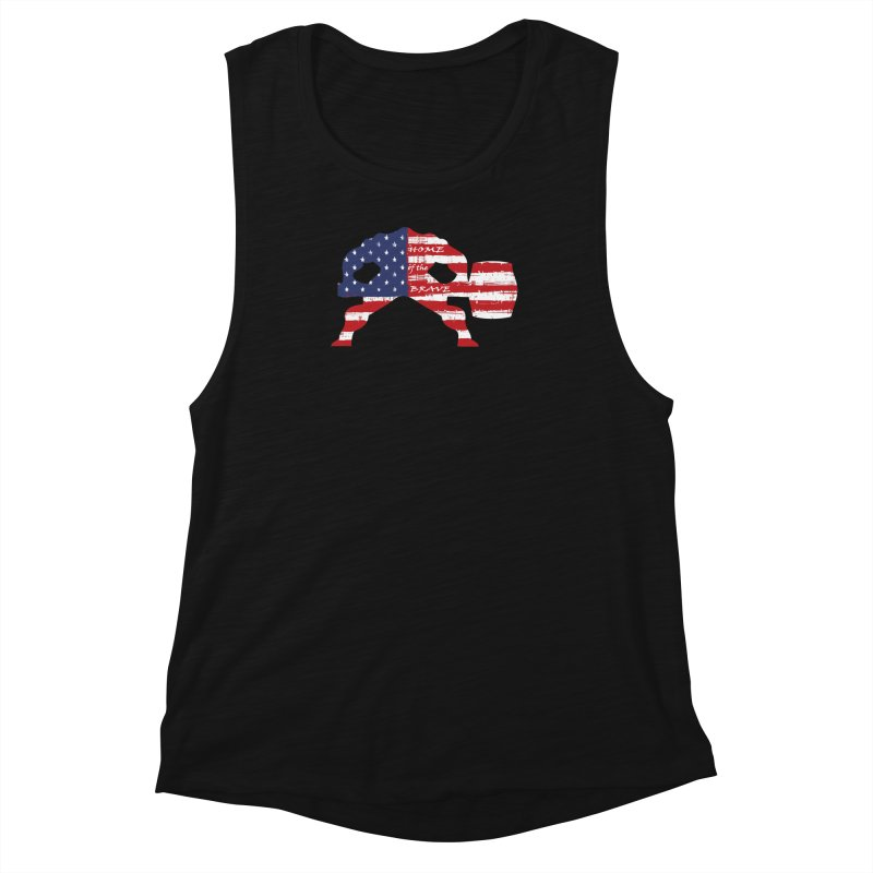 BE BRAVE - 4TH OF JULY EDITION Women's Muscle Tank by Hammer Wrestling's Apparel Shop