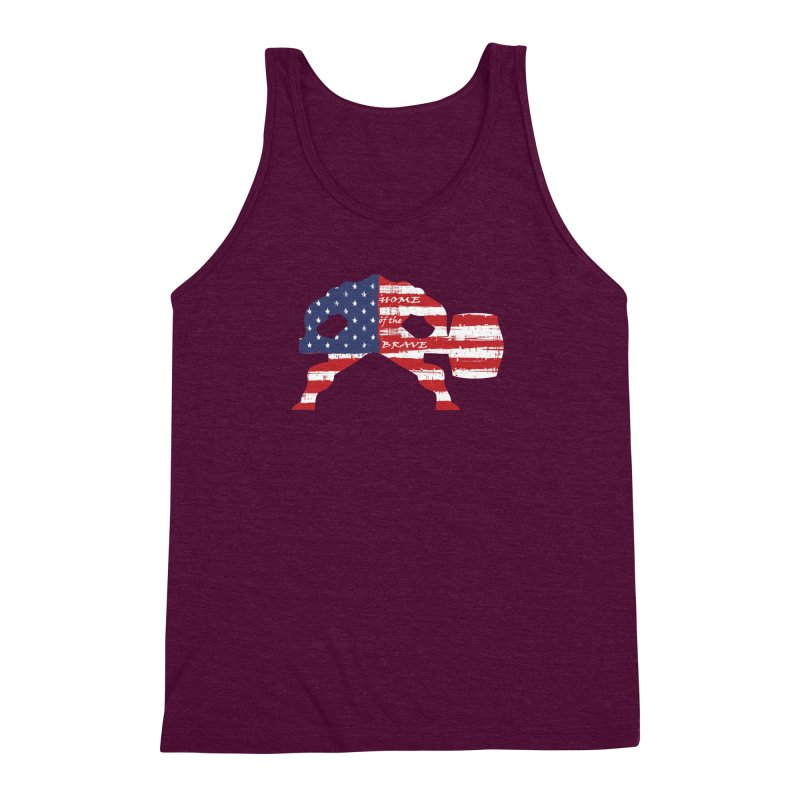 BE BRAVE - 4TH OF JULY EDITION Men's Triblend Tank by Hammer Wrestling's Apparel Shop