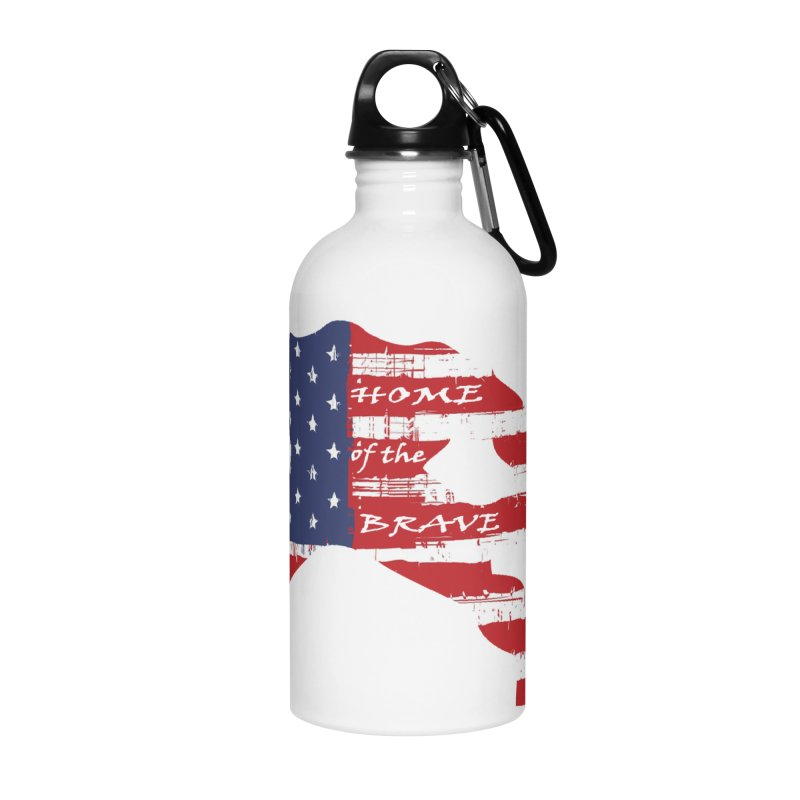 BE BRAVE - 4TH OF JULY EDITION Accessories Water Bottle by Hammer Wrestling's Apparel Shop