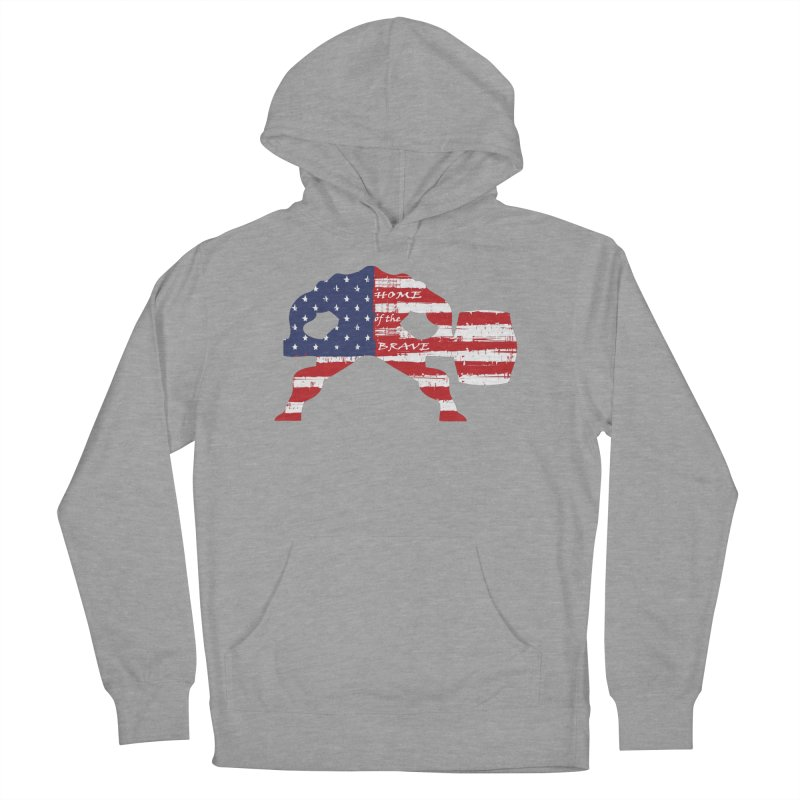 HAMMER BRAVE Women's French Terry Pullover Hoody by Hammer Apparel Shop