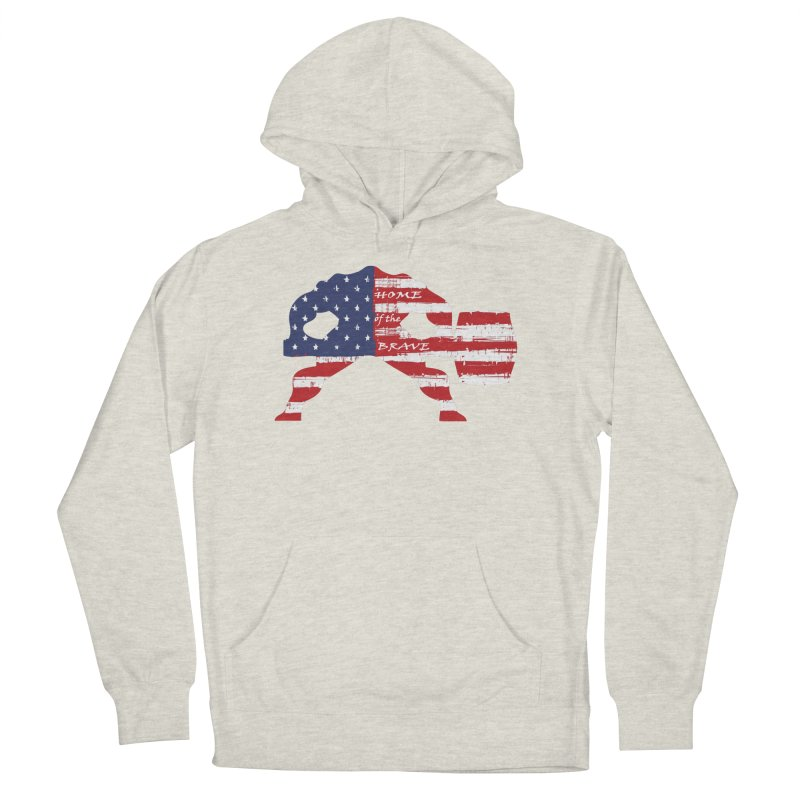 BE BRAVE - 4TH OF JULY EDITION Women's French Terry Pullover Hoody by Hammer Wrestling's Apparel Shop