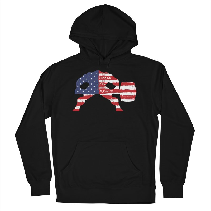 Hammer - BE BRAVE - 4TH OF JULY EDITION Women's French Terry Pullover Hoody by Hammer Life Apparel Shop