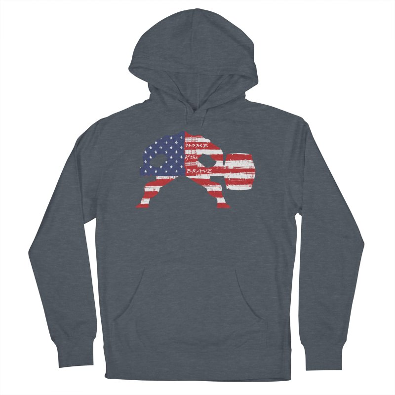 HAMMER BRAVE Men's French Terry Pullover Hoody by Hammer Apparel Shop