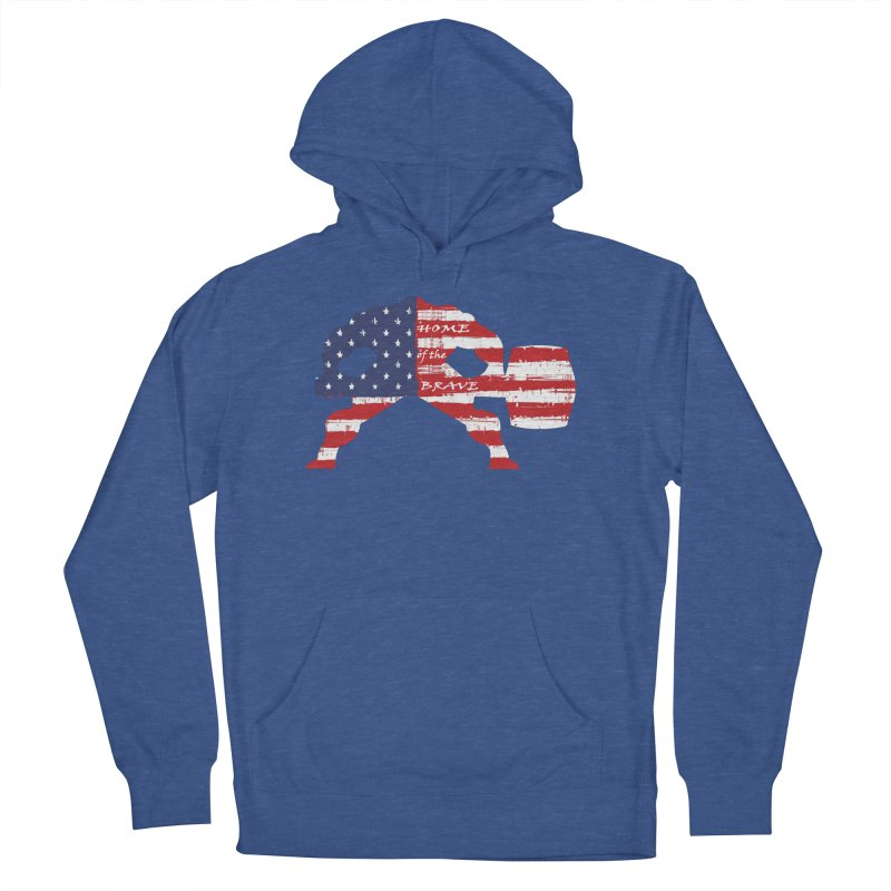 BE BRAVE - 4TH OF JULY EDITION Men's French Terry Pullover Hoody by Hammer Wrestling's Apparel Shop