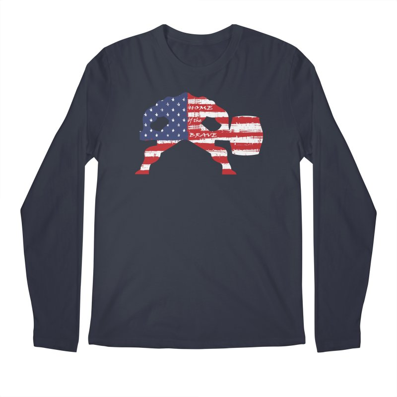 HAMMER BRAVE Men's Regular Longsleeve T-Shirt by Hammer Apparel Shop
