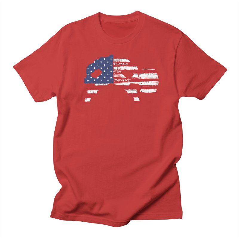 BE BRAVE - 4TH OF JULY EDITION Men's Regular T-Shirt by Hammer Wrestling's Apparel Shop
