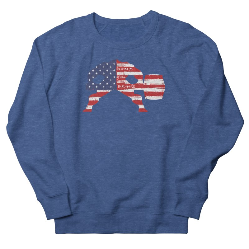 Hammer - BE BRAVE - 4TH OF JULY EDITION Men's French Terry Sweatshirt by Hammer Wrestling's Apparel Shop