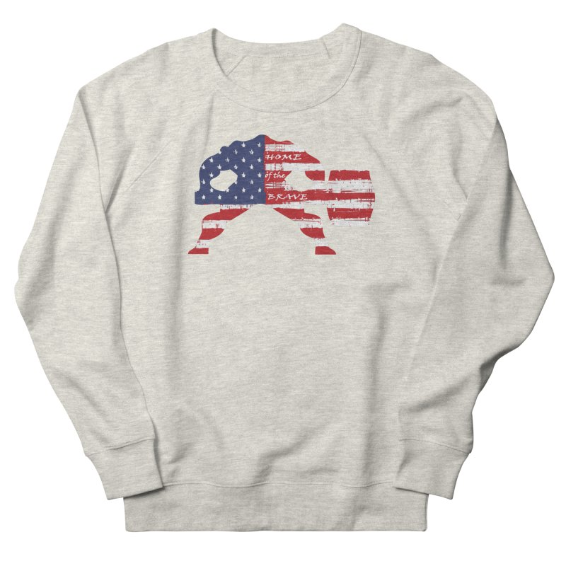 Hammer - BE BRAVE - 4TH OF JULY EDITION Men's French Terry Sweatshirt by Hammer Life Apparel Shop