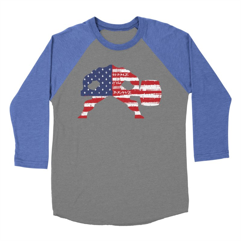 BE BRAVE - 4TH OF JULY EDITION Women's Baseball Triblend Longsleeve T-Shirt by Hammer Wrestling's Apparel Shop