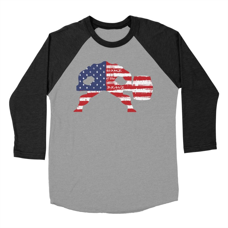 Hammer - BE BRAVE - 4TH OF JULY EDITION Women's Baseball Triblend Longsleeve T-Shirt by Hammer Wrestling's Apparel Shop
