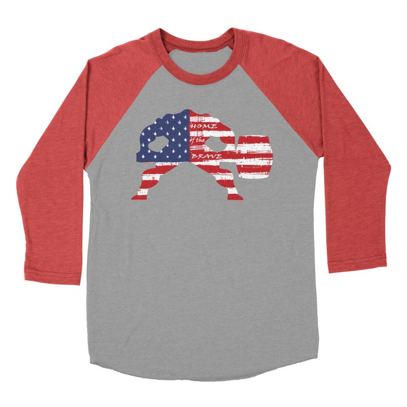 BE BRAVE - 4TH OF JULY EDITION Men's Baseball Triblend Longsleeve T-Shirt by Hammer Wrestling's Apparel Shop