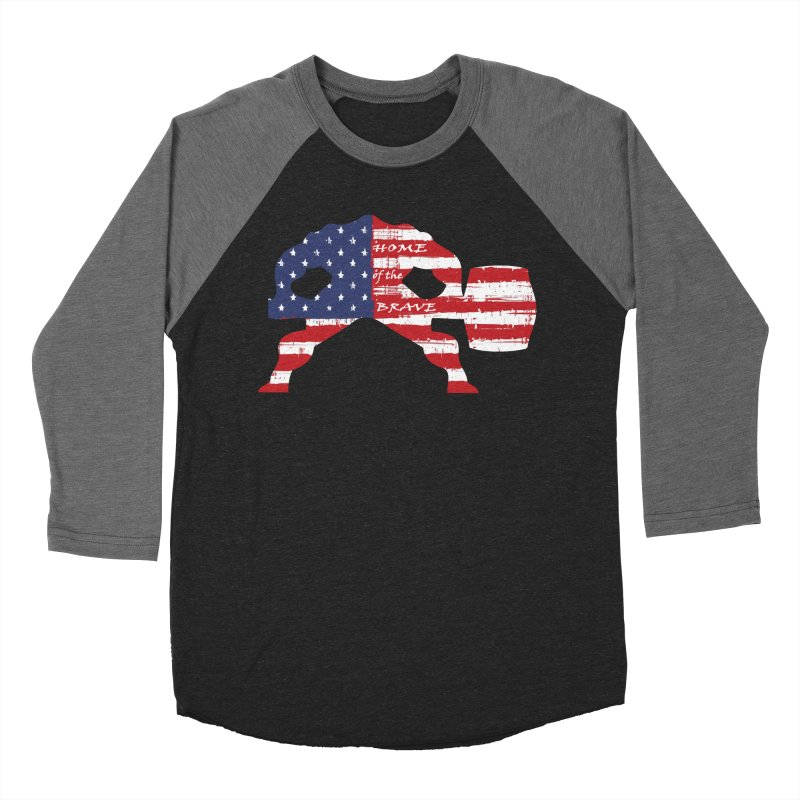 Hammer - BE BRAVE - 4TH OF JULY EDITION Men's Baseball Triblend Longsleeve T-Shirt by Hammer Wrestling's Apparel Shop